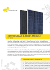 Centrosolar - B-Series 60 Cell - Photovoltaic Modules Datasheet
