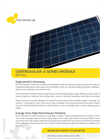 Centrosolar - Model E-Series 60 Cell - Photovoltaic (PV) Module Datasheet