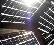 High-power, self-cleaning solar panels