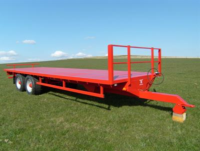 KeithRose - Model 18T - Red Heavy Flat Trailer