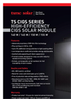Model TS-140C1 TS-145C1 TS-150C1 TS-155C1 CIGS - Photovoltaic Modules Brochure