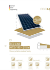 eco line m72 eco line monocrystalline solar module by luxor solar gmbh. Black Bedroom Furniture Sets. Home Design Ideas