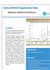 Methane, Methanol & Ethanol for the Biofuel industry Application Note