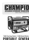 Model 100403 - 1200-Watt Multi Purpose Portable Generator Brochure