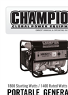 Model 100204 - 3100 Watt Portable Dual Fuel Inverter Generator Brochure