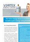 Vortex Energy Saver - Domestic Heating Systems - Flyer
