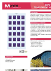 M 8590P FI Transparent BIPV Modules Brochure