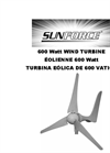 600 Watt Wind Turbine Brochure