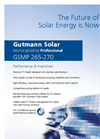 Model GSMP 265 - 270 - Monocrystalline Solar Panels Brochure