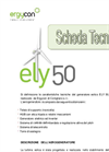 Ergycon - Model Ely 50 - Small Wind Turbine 50 kW (Italian) Datasheet
