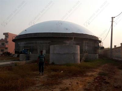 AMOCO - Model AMB - dia 32m biogas holder in India for farm project