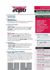 Spal-Pro - Model 2000 - Low Temperature Concrete Joints and Crack Repair - Technical Datasheet