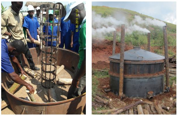 Metal kilns in Africa also using chimneys with improved efficiencies