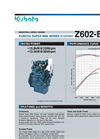 KUBOTA - Model Z602-E4B - Industrial Diesel Engine Brochure