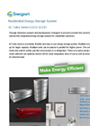 Model AC Cube Series - Residential & Small Business Energy Storage System Brochure
