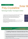 Model SE-156- 52-P-36 - 50-55 Watts Polycrystalline Solar Modules - Brochure