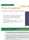 Model SE-156 - 104-P-36 - 100-105-110 Watts Polycrystalline Solar Modules Brochure