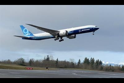 Taking Wing: Boeing's 777X, Powered By GE's Record-Breaking Engines, Soars Above Seattle