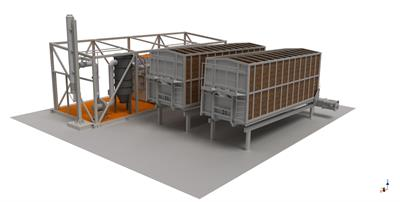 Fuel Transportation System With Container-Type Warehouse