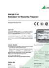 SINEAX F534 Transducer for Measuring Frequency - Data Sheet