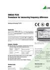 SINEAX F535 Transducer for Measuring Frequency Difference - Data Sheet