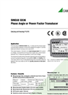 SINEAX G536 Phase Angle or Power Factor Transducer - Data Sheet