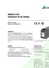SINEAX U539 Transducer for AC voltage - Data Sheet