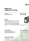 SINEAX U543 Transducer for AC Voltage - Data Sheet