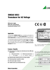 SINEAX U553 Transducer for AC Voltage - Data Sheet