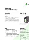 SINEAX I538 Transducer for AC Current - Data Sheet