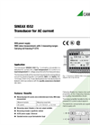 SINEAX I552 Transducer for AC Current - Data Sheet