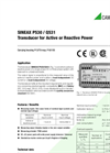 SINEAX Q531 Transducer for Active or Reactive Power - Data Sheet