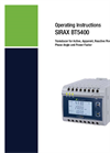 Sirax - Model BT5400 - Transducer for Active, Apparent, Reactive Power, Phase Angle and Power Factor - Operating Instructions