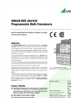 SINEAX DME 424/442 Programmable Multi-Transducers - Data Sheet