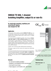 SINEAX TV808-115 Isolating Amplifier for Electrical Isolation of DC Signals - Data Sheet