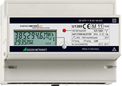 Model U1281 MID ...U1389 MID - Active Energy Meter with MID Approval