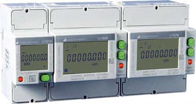 Model U181, U187, U189 - Energy Meters for 4 Quadrants, 2 Tariffs, Calibrated