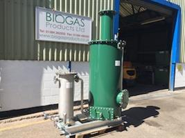 Biogas Conditioning - Biogas H2S Dry Media Scrubber by Biogas